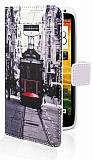 HTC One X Taksim C�zdanl� Yan Kapakl� K�l�f