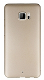 HTC U Ultra Tam Kenar Koruma Gold Rubber Kılıf