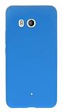 HTC U11 Mat Mavi Silikon Kılıf