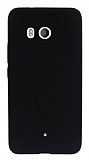 HTC U11 Mat Siyah Silikon Kılıf