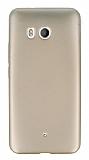 HTC U11 Mat Gold Silikon Kılıf