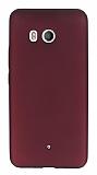 HTC U11 Mat Mürdüm Silikon Kılıf