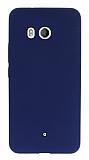 HTC U11 Mat Lacivert Silikon Kılıf