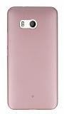 HTC U11 Tam Kenar Koruma Rose Gold Rubber Kılıf