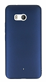 HTC U11 Tam Kenar Koruma Lacivert Rubber Kılıf
