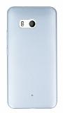 HTC U11 Tam Kenar Koruma Silver Rubber Kılıf