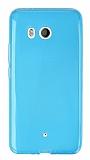 HTC U11 Ultra İnce Mavi Silikon Kılıf