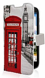 Huawei Ascend G610 London C�zdanl� Yan Kapakl� Deri K�l�f