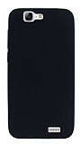 Huawei Ascend G7 Mat Siyah Silikon Kılıf