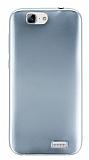 Huawei Ascend G7 Metalik Silver Silikon Kılıf