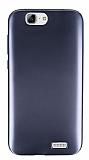 Huawei Ascend G7 Metalik Siyah Silikon Kılıf