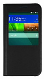Huawei Ascend G7 Uyku Modlu Pencereli Siyah Kılıf