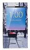 Huawei Ascend Mate 7 Gizli Mıknatıslı Pencereli Taksim Deri Kılıf
