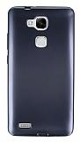Huawei Ascend Mate 7 Metalik Siyah Silikon Kılıf