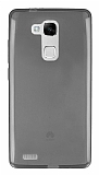 Eiroo Huawei Ascend Mate 7 Ultra İnce Şeffaf Siyah Silikon Kılıf