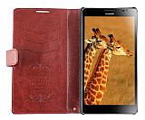 Huawei Ascend Mate Standl� C�zdanl� Bordo Deri K�l�f