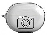 Huawei FreeBuds Pro Fotoğraf Makinesi Resimli Şeffaf Silikon Kılıf