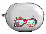 Huawei FreeBuds Pro Travel Glass Resimli Şeffaf Silikon Kılıf