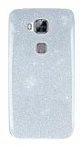 Huawei G8 Simli Silver Silikon Kılıf