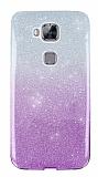 Huawei G8 Simli Mor Silikon Kılıf