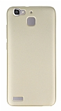 Huawei GR3 Mat Gold Silikon Kılıf