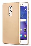 Huawei GR5 2017 Tam Kenar Koruma Gold Rubber Kılıf