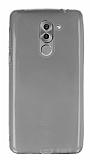 Huawei GR5 2017 Ultra İnce Şeffaf Siyah Silikon Kılıf