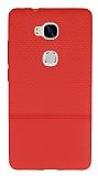 Huawei GR5 Ultra İnce Noktalı Kırmızı Silikon Kılıf