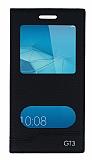 Huawei GT3 Gizli Mıknatıslı Pencereli Siyah Deri Kılıf