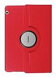 Huawei MediaPad T3 10 inç 360 Derece Döner Standlı Kırmızı Deri Kılıf