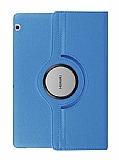 Huawei MediaPad T3 10 inç 360 Derece Döner Standlı Mavi Deri Kılıf