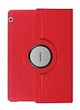 Huawei Huawei MediaPad T5 10 inç 360 Derece Döner Standlı Kırmızı Deri Kılıf