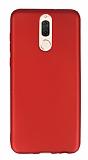 Huawei Mate 10 Lite Mat Kırmızı Silikon Kılıf