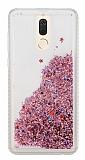 Huawei Mate 10 Lite Simli Sulu Rose Gold Rubber Kılıf