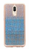 Huawei Mate 10 Lite Taşlı Geçişli Mavi Silikon Kılıf