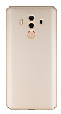 Huawei Mate 10 Pro Tam Kenar Koruma Gold Rubber Kılıf