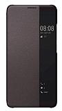 Huawei Mate 10 Pro Uyku Modlu İnce Yan Kapaklı Siyah Kılıf