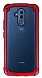 Huawei Mate 20 Lite Jelly Bumper Şeffaf Ultra Koruma Kırmızı Kılıf