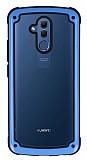 Huawei Mate 20 Lite Jelly Bumper Şeffaf Ultra Koruma Mavi Kılıf