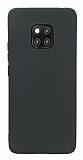 Huawei Mate 20 Pro Mat Siyah Silikon Kılıf