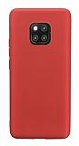 Huawei Mate 20 Pro Mat Kırmızı Silikon Kılıf