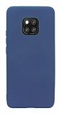 Huawei Mate 20 Pro Mat Lacivert Silikon Kılıf