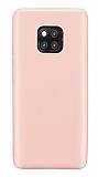 Huawei Mate 20 Pro Mat Rose Gold Silikon Kılıf