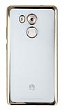 Huawei Mate 8 Gold Kenarlı Şeffaf Silikon Kılıf