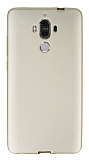 Huawei Mate 9 Ultra İnce Mat Gold Silikon Kılıf
