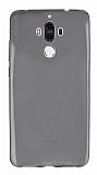 Huawei Mate 9 Ultra İnce Şeffaf Siyah Silikon Kılıf