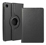 Huawei MatePad T10 / T10S 360 Derece Döner Standlı Siyah Deri Kılıf