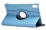 Huawei MatePad 10.4 360 Derece Döner Standlı Mavi Deri Kılıf