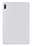 Huawei MatePad 10.4 Kılıf Şeffaf Beyaz Silikon Kılıf