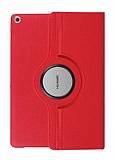 Huawei MediaPad T3 7.0 360 Derece Döner Standlı Kırmızı Deri Kılıf
